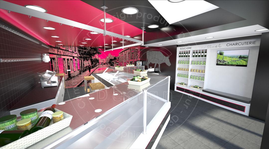 ncdesign boucherie martinel designer nicolas crepieux design d 39 espace magasin boucherie. Black Bedroom Furniture Sets. Home Design Ideas