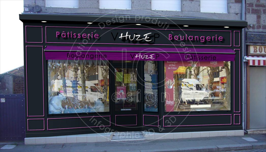 ncdesign boulangerie huze designer magasin design d 39 espace magasin patisserie fa ade. Black Bedroom Furniture Sets. Home Design Ideas