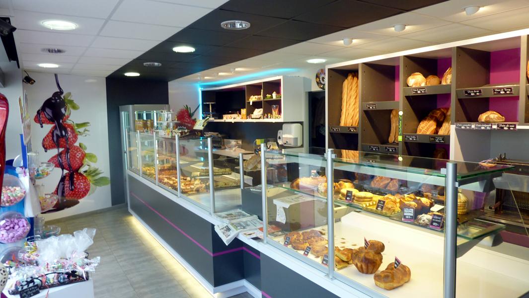 Ncdesign boulangerie mercier designer nicolas crepieux for Interieur noir et blanc