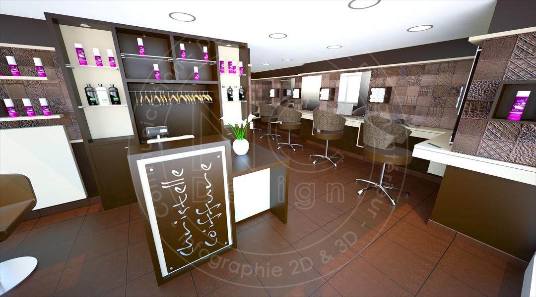 Ncdesign christelle coiffure designer nicolas crepieux for Agencement salon de coiffure 3d